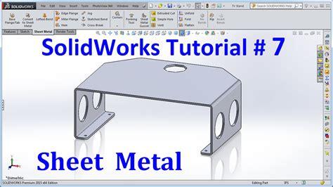 solid work tutorial in pdf solidworks 2015 tutorial 007 sheet metal doovi