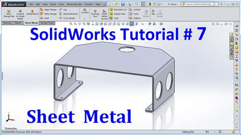 tutorial video solidworks solidworks 2015 tutorial 007 sheet metal doovi
