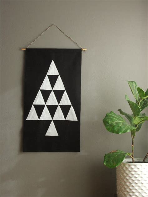 picture of felt triangle tree pendant
