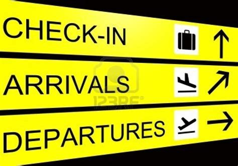 check in desk sign what to do before you go away another timely reminder