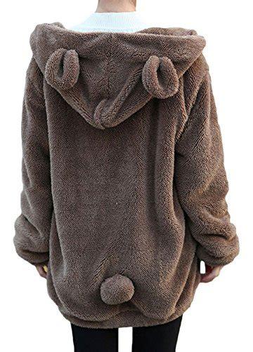 Jaket Hoodie Smile Brown animal hoodies