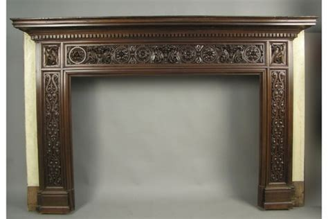 Mahogany Fireplace Mantel by American Mahogany Griffin Carved Fireplace Mantle Circa 1890 1695913