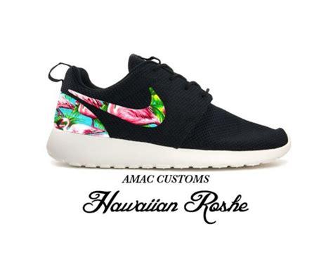 nike hawaiian print shoes black sneakers customized sneaker amac customs hawaiian