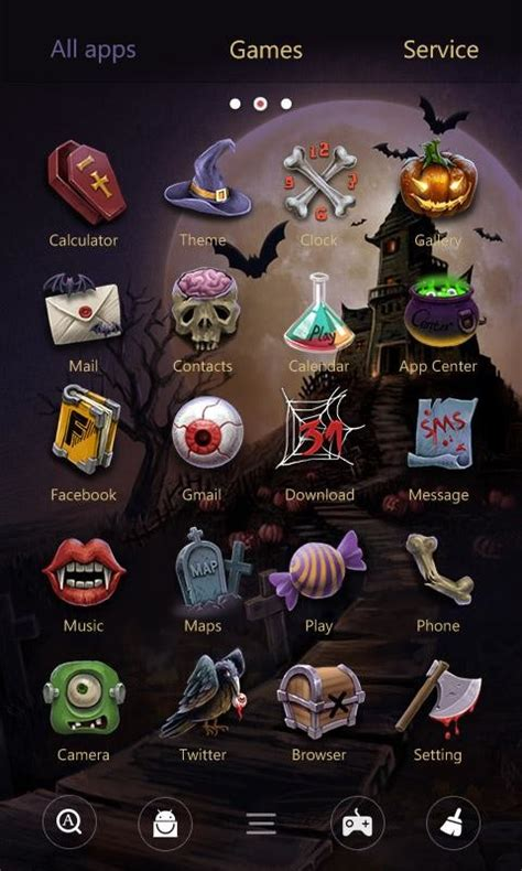halloween night themes halloween night go theme free android theme download appraw