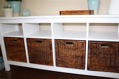 sofa table with baskets sofa table with storage baskets sofa great table with