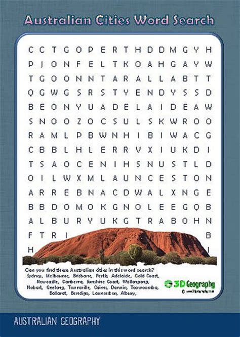 Australia Search Australia Geography Worksheets