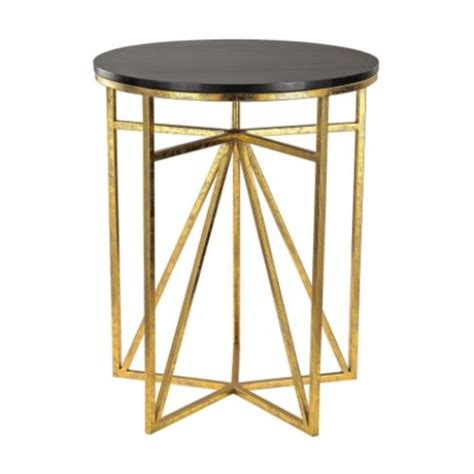 Geometric Side Table Gold Spokes Geometric Accent Side Table