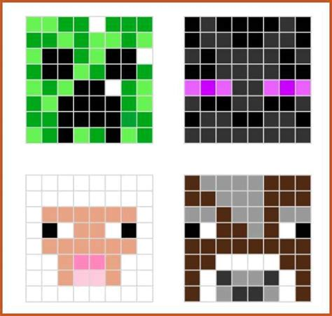 minecraft pixel art template minecraft pixel art