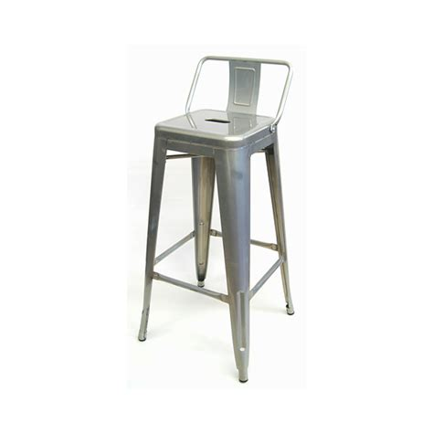 tolix bar stools with back galvanized silver finish low back tolix bar stool