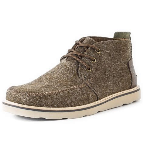 toms chukka boot mens boots in brown