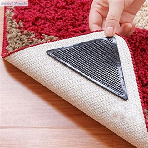 Grip Anti Slip Untuk Karpet 4pcs sweettreats 4pcs rug carpet mat grippers non slip reusable washable silicone grip in bath mats