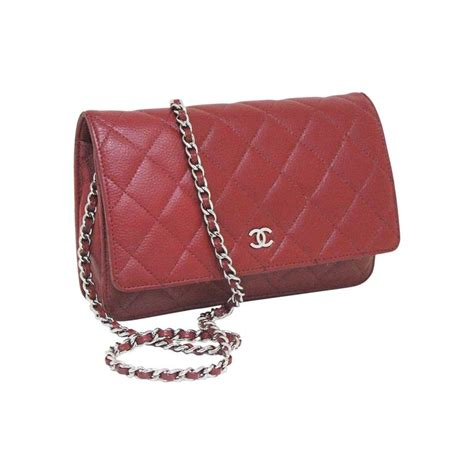 chanel caviar quilted cross wallet on chain woc