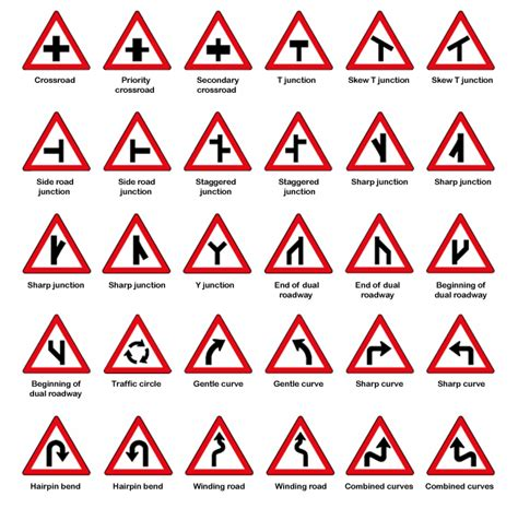 printable european road signs truck driver worldwide traffic rules