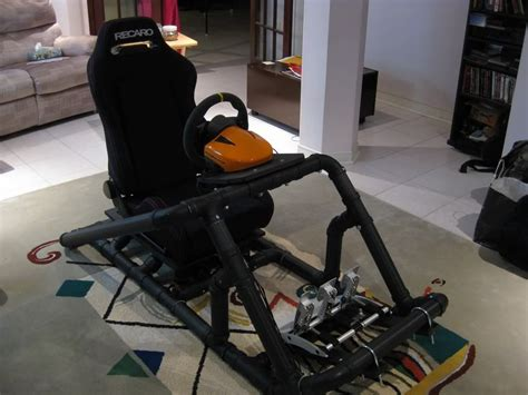 racing simulator chair plans the pvc rasberry pi arduino
