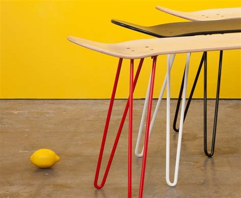 skate bench skurniture bench turns the skate deck into functional home furniture trendspace com