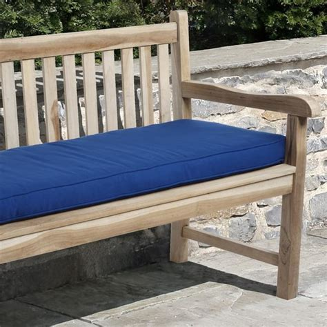 outdoor bench cushions 48 inches clara 48 inch outdoor blue bench cushion with sunbrella