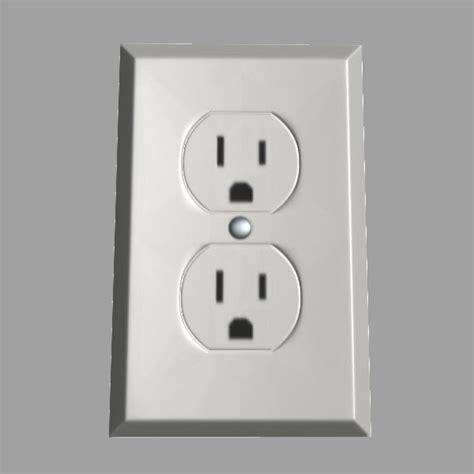 110v outlet 3d model