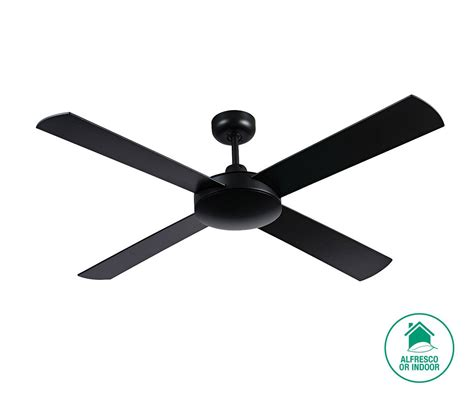 futura 132cm fan only in black ceiling fans no lights