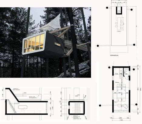hanging tree house designs new tree cabin features rooftop deck top down entry
