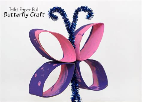toilet paper roll butterfly craft toilet paper roll butterfly craft for