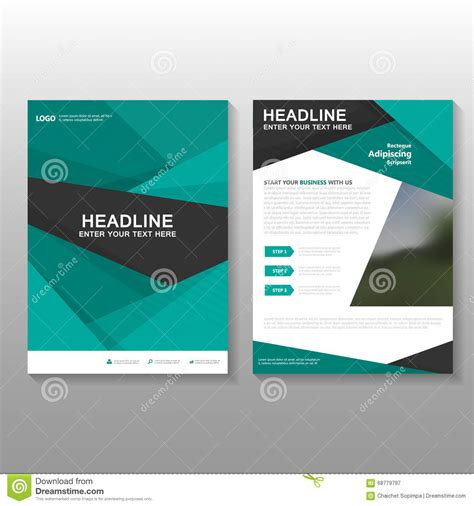 layout background proposal abstract green vector leaflet brochure flyer business
