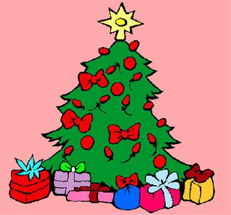 dibujo de 193 rbol de navidad pintado por nochebuena en