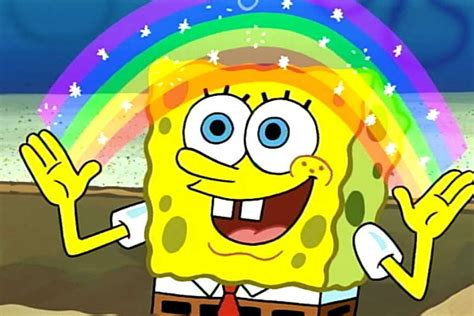 Spongebob Rainbow Meme - spongebob to air through its 20th year will be old enough