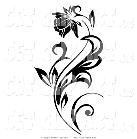 beautiful flower clipart black and white clipartxtras
