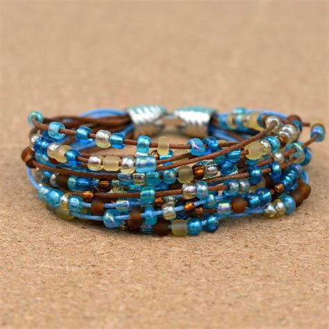 how to bead bracelets how to make an easy boho beaded bracelet blitsy