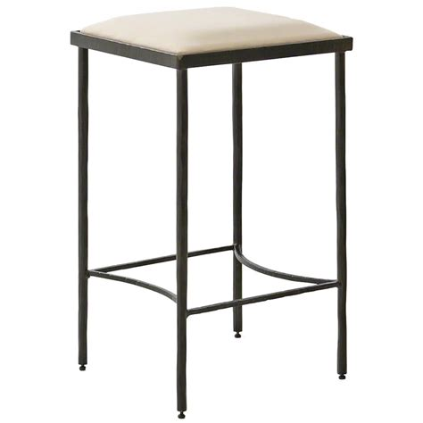 iron bar stools iron counter stools ivan industrial loft muslin upholstered iron counter stool