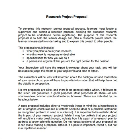 design research proposal template research proposal templates 16 free word excel pdf