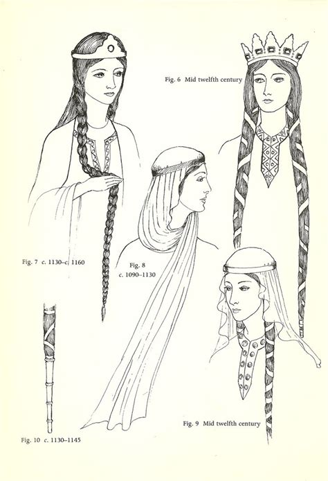 hair of the middle ages 11th century women s hair history judy de luca