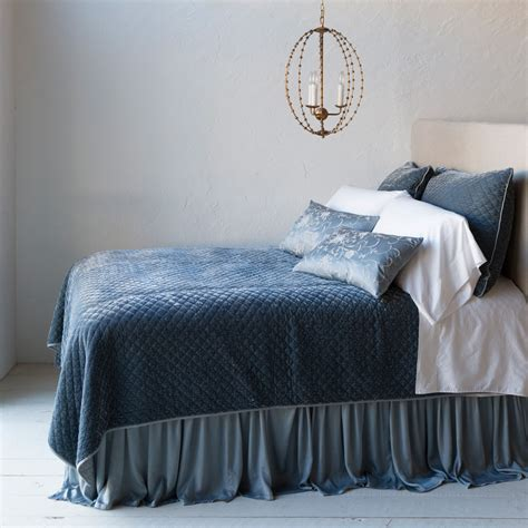 velvet quilted coverlet bella notte linens silk velvet quilted coverlet luxury