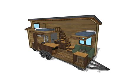 Modern House Layout the cider box modern tiny house plans for your home on wheels