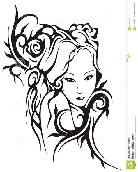Face Of Beauty Stock Vector Illustration Of Circuit