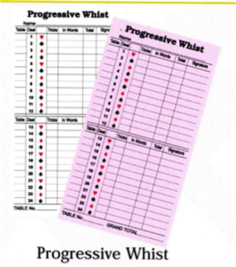 Progressive Whist Score Card Template by Whist Scoresheet Pictures To Pin On Thepinsta