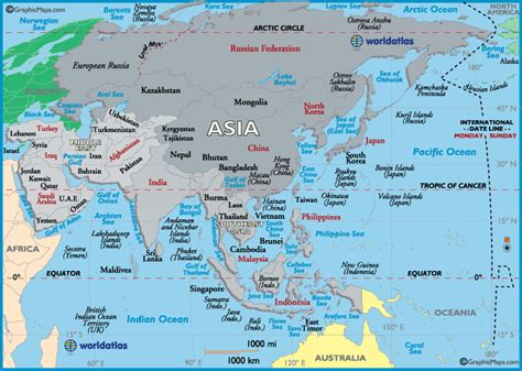 Asia Map / Map of Asia   Maps, Facts and Geography of Asia   Worldatlas.com
