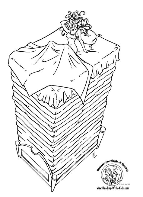 princess and the pea coloring pages az coloring pages