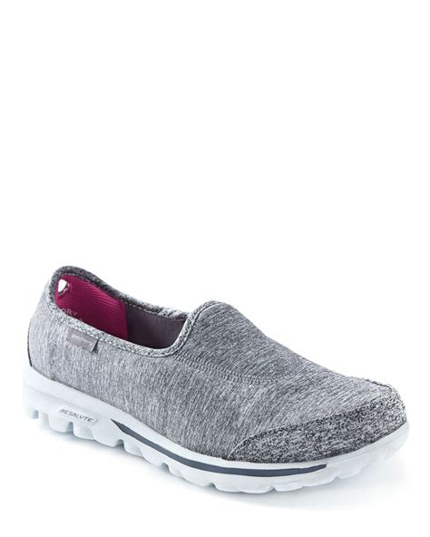 skechers wide width grey walking shoes penningtons