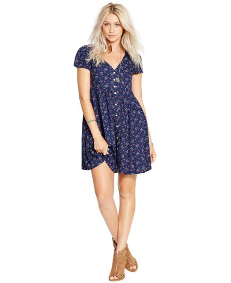 Lawren Dress lyst denim supply ralph floral print button