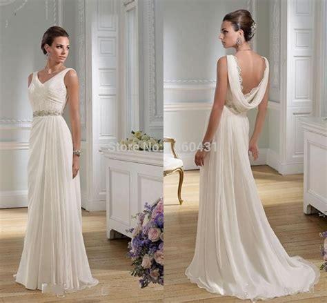 draped wedding dresses 2015 dynamic elegant classic v neck bridal gowns a line