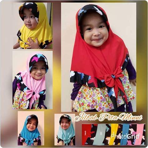 Jilbab Minnie Anak by Jilbab Anak Pita Minni Kupu Jilbab Instan