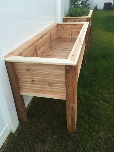elevated planter raised bed diy home garden raised