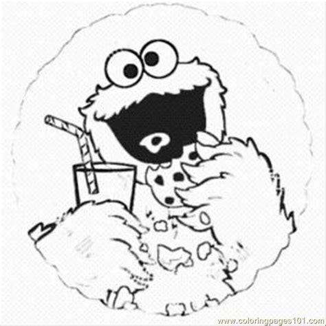 Cookie Monster Coloring Page Pdf | free coloring pages of of the cookie monster