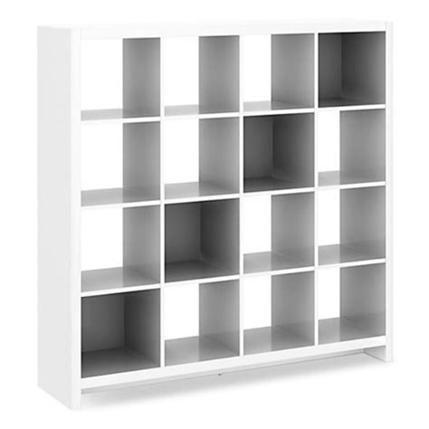 16 cube bookcase white kathy ireland office by bush furniture new york skyline 16