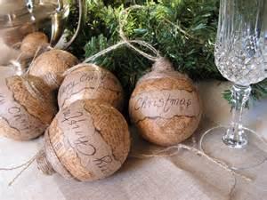 rustic christmas ornament set of 5