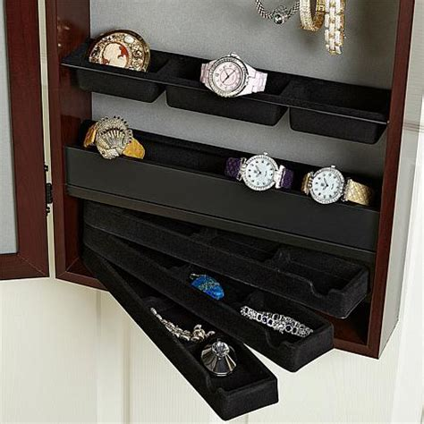 hsn hanging jewelry armoire over the door jewelry armoire with full length mirror