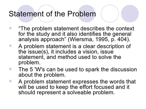 problem statement for thesis how to write a problem statement for a thesis