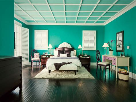 latest bedroom interiors dark teal wall color teal color
