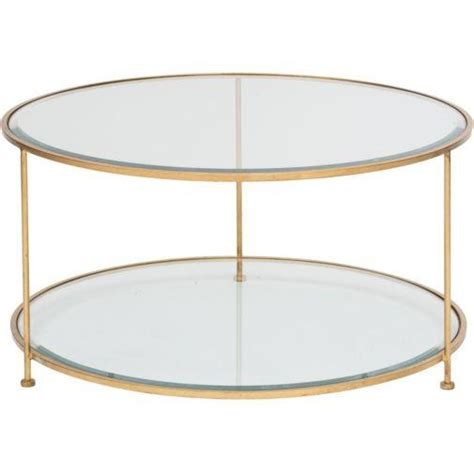 Round Two Tiered Gold Legs Glass Coffee Table Two Coffee Tables